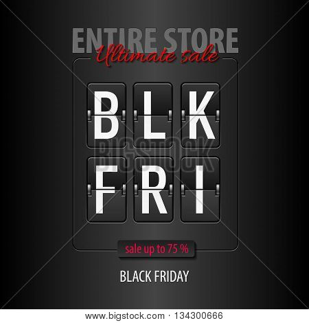 Black Friday discounts increasing consumer growth. Entire store ultimate sale