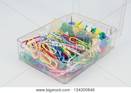 Office tools. Paper clips and office tools.