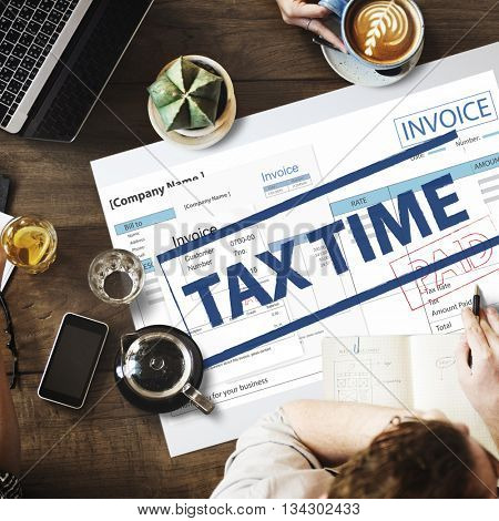 Payment Received Taxation Tax Time Concept