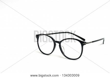 Black big Eye Glasses Isolated on  White