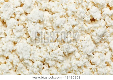 Cottage Cheese (curd) Top View, Background