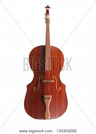 3D Rendering Of A Contrabass
