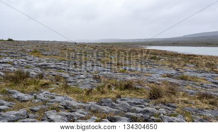 the rugged landscape of Burren in Ireland
