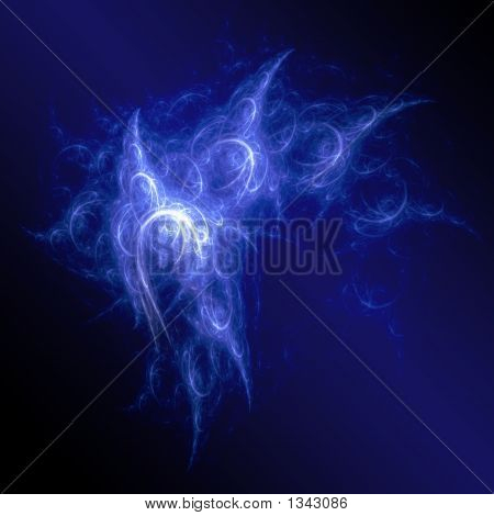 blue chaos rays space on dark background poster