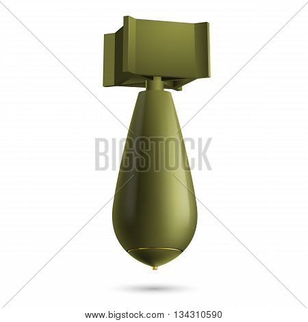 Illustration of green bomb isolated on a white background