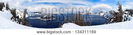 Caldera Lake In Crater Lake National Park, Oregon,  Usa
