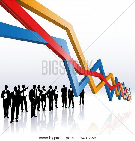 Business People And A Sales Graph