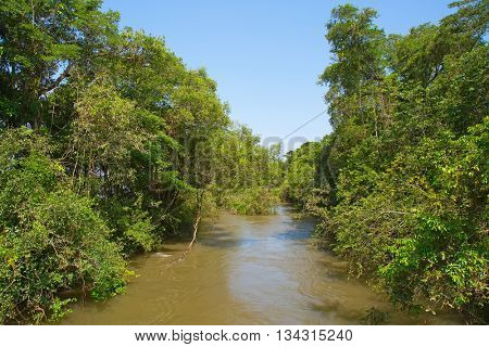 Parana river. The border between Argentina and Brazil
