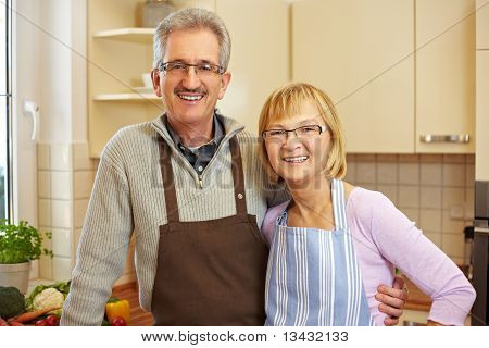 Senior People Portrait In Kitchen
