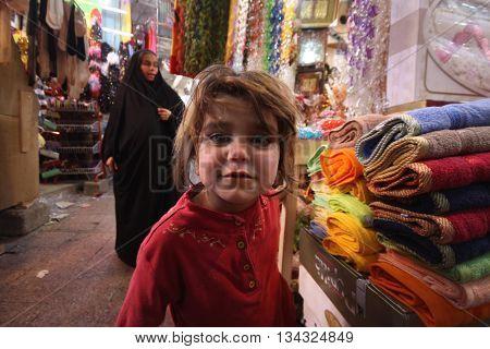 ARBİL, IRAQ-MARCH 9, 2010. A Child in Arbil City,Kurdistan,ıraq.