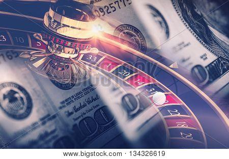 Casino Games Roulette Concept. Las Vegas Gambling Concept.