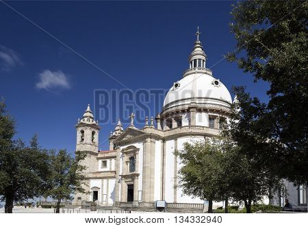 BRAGA, PORTUGAL - September 22, 2015: The Sanctuary of Our Lady of Sameiro on September 22, 2015 in Braga, Portugal