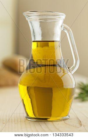 Jar of mediterranean olive oil