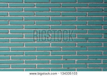 Aqua Tile Bricks with White Grout Texture background image