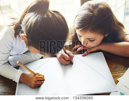 Drawing Friendship Ideas Imagination Creative Concept