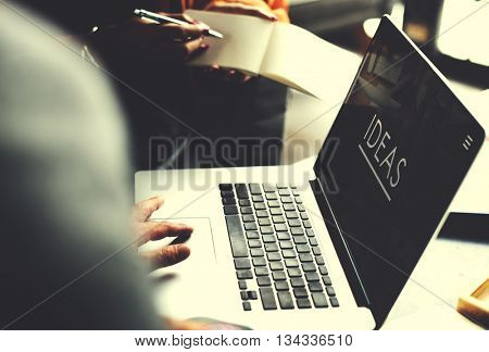 Ideas Creative Webpage Business Devices Concept