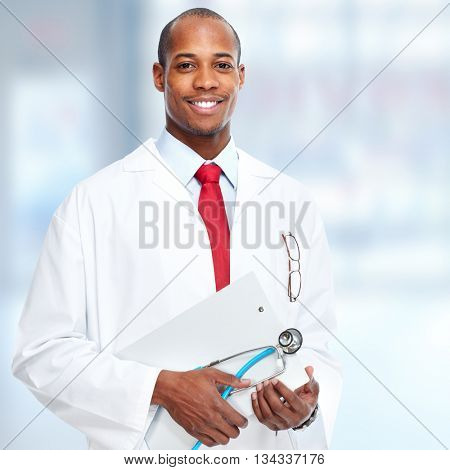 African-American medical doctor.