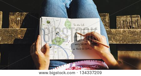 Map Direction Journey Wanderlust Explore Route Concept