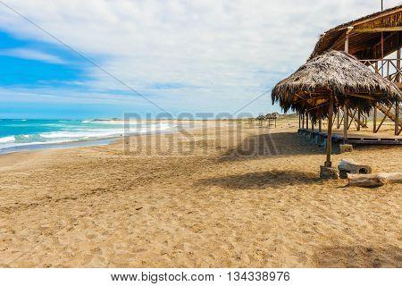 La Loberia Beach View In Salinas, Ecuador