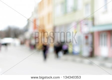 Blurred image of city street