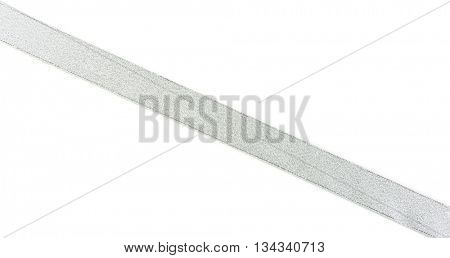 Straight ribbon, isolated on white
