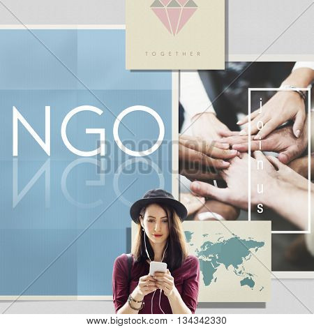 NGO Contribution Corporate Foundation Nonprofit Concept