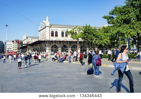Istanbul Turkey - May 29 2016: Kadikoy Haldun Taner Stage (Turkish: Kadikoy Haldun Taner Sahnesi) is a theatre venue located in Kadıkoy district of Istanbul Turkey. It is owned by Istanbul Metropolitan Municipality and operated by its City Theatres (Şehir
