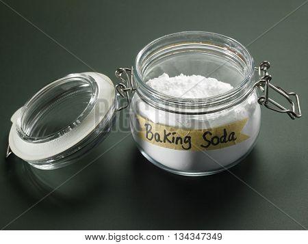 jar of baking soda on the blackboard