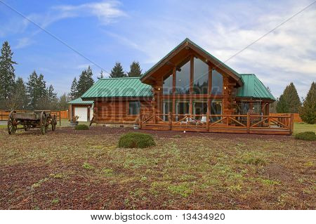 Cabin On A Large Land With Front Porch