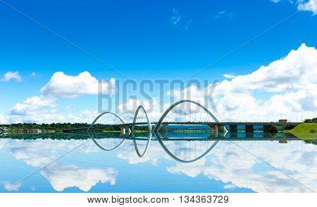 JK Bridge in Brasilia, Brazil
