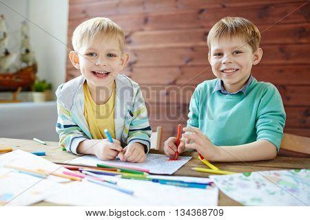 Siblings drawing