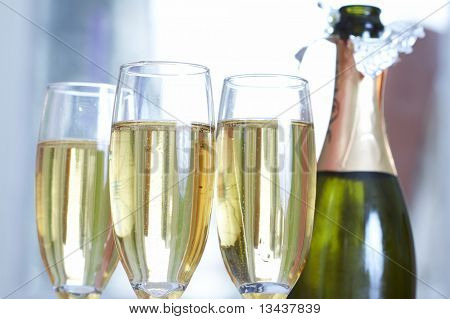 Champagne and glass