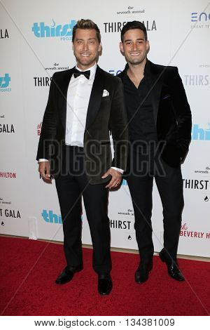 LOS ANGELES - JUN 13:  Lance Bass, guest at the 7th Annual Thirst Gala at the Beverly Hilton Hotel on June 13, 2016 in Beverly Hills, CA