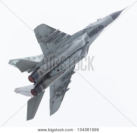 Leeuwarden, The Netherlands - Jun 10, 2016: Slovak Air Force Mig-29 Fulcrum During A Demonstration A