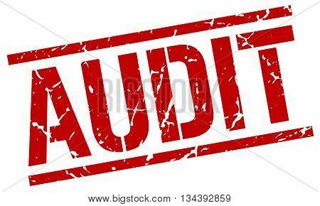 Audit Stamp. Vector. Stamp. Sign. Audit. Red.