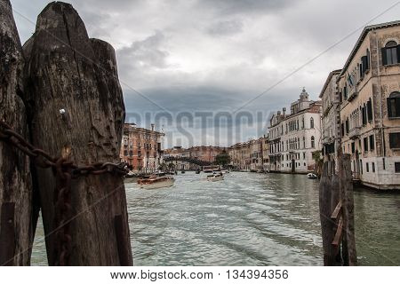 Canale Grande in the middle of Venice