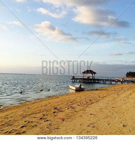 PONTOON ON THE BEACH   , MAURITIUS ISLAND