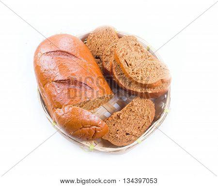 Bread In A Wicker Breadbasket
