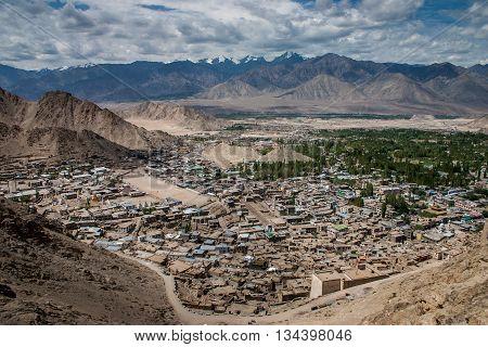 Scenic View of Leh in Ladakh in India