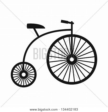 Penny-farthing icon in simple style isolated on white background