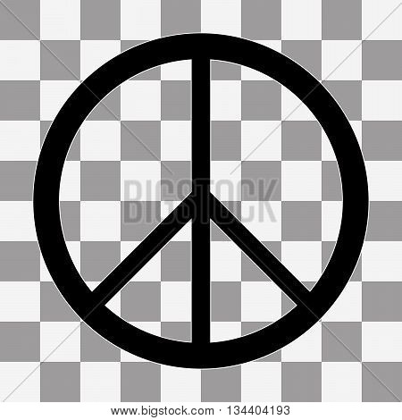 Peace sign Icon Vector on a transparent background