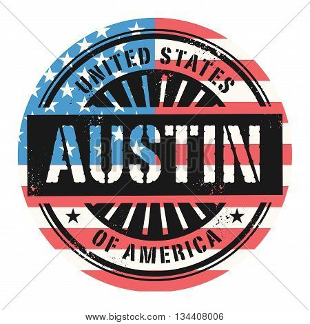 Grunge rubber stamp with the text United States of America, Austin, vector illustration