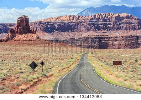 Highway to Hite Marina Campground on Lake Powell in Glen Canyon National Recreation Area poster