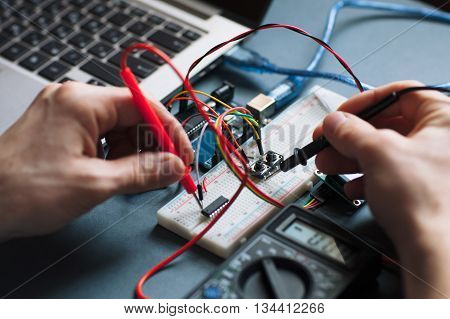 Computer Technology Programming Microelectronics Engineering Hardware Concept