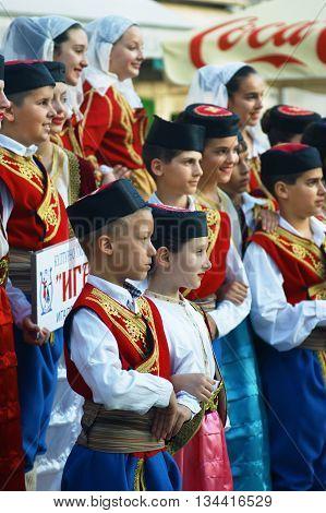 Montenegro, Herceg Novi - 28/05/2016: Children of the folk ensemble
