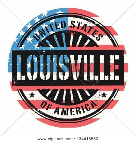 Grunge rubber stamp with the text United States of America, Louisville, vector illustration