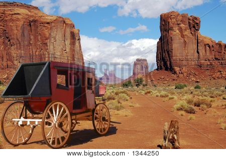 stagecoach in monument valley this is one way to travel back in the old west poster