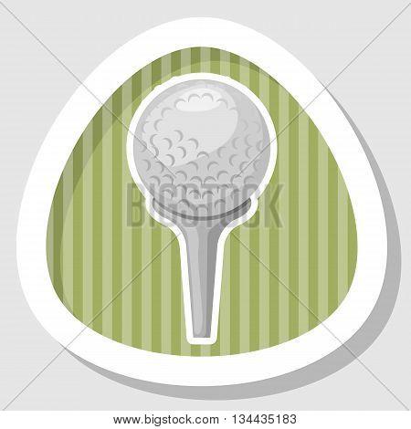 Golf ball icon, Golf ball icon vector, Golf ball icon eps 10, Golf ball icon jpg. Vector illustration