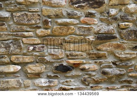 Vintage stone wall background at  historic building