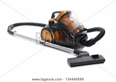 bagless vacuum cleaner. isolated on white background.